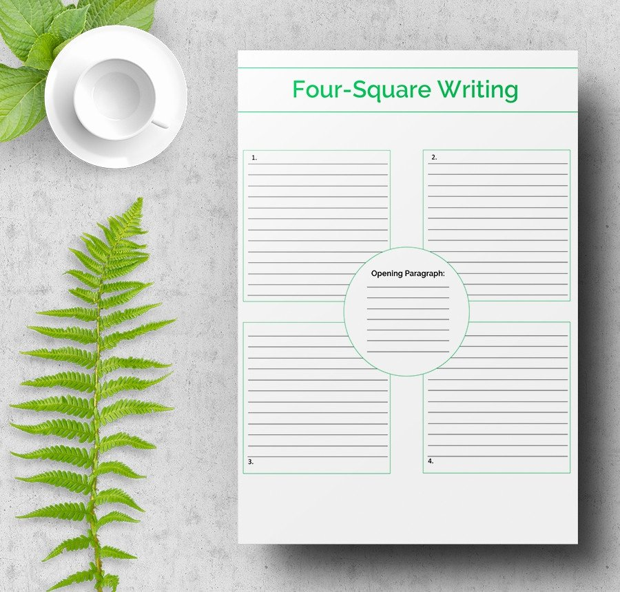 Four Square Writing Template Printable Best Of 7 Free Writing Samples Letter Script Resume