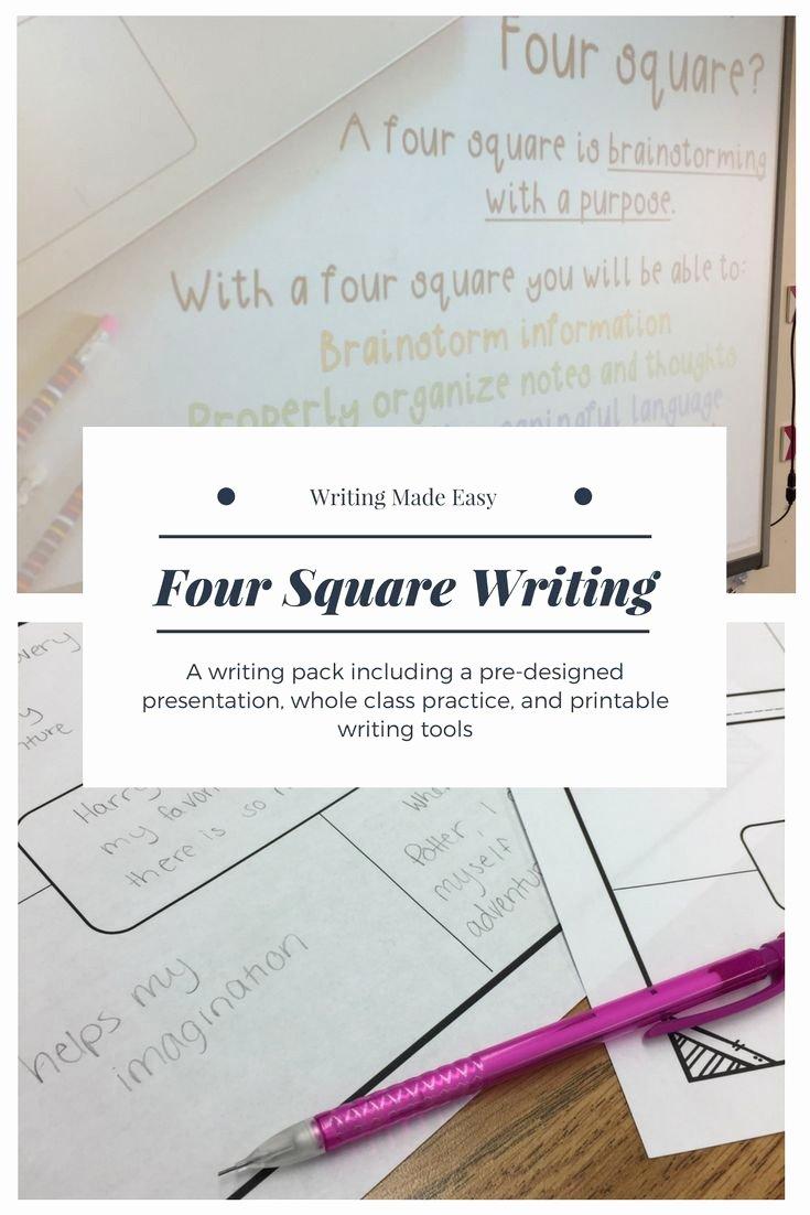 Four Square Writing Template Printable Fresh Best 25 Four Square Writing Ideas On Pinterest