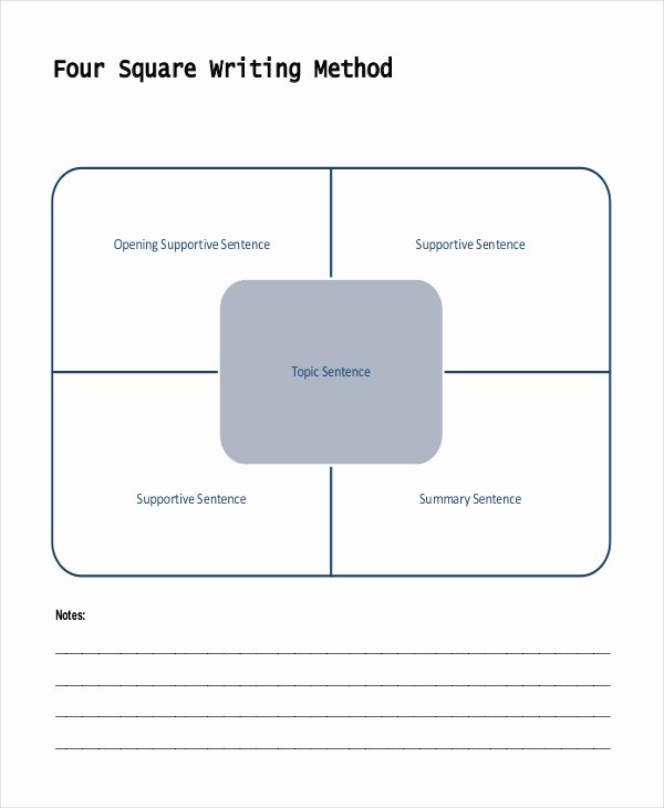 Four Square Writing Template Printable Fresh Writing Template – 15 Free Word Pdf Documents Download