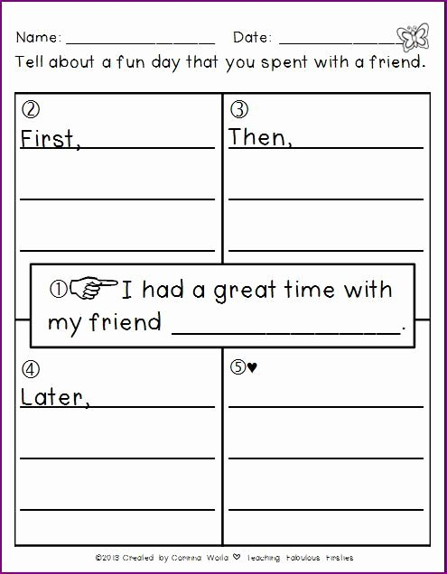 Four Square Writing Template Printable Unique ♥teaching Fabulous Firsties and 2nd Grade Smarties