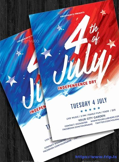 Fourth Of July Flyer Template Awesome 60 Best 4th Of July U S Independence Day Flyers Print