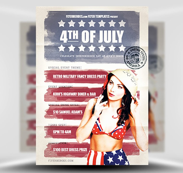 Fourth Of July Flyer Template Best Of Vintage 4th July Flyer Template Flyerheroes