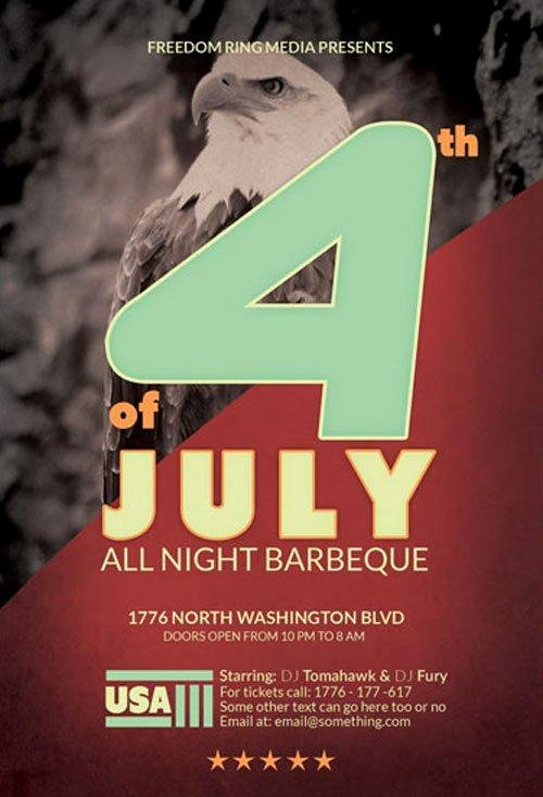 Fourth Of July Flyer Template Elegant 12 Best & Free 4th Of July Flyer Templates