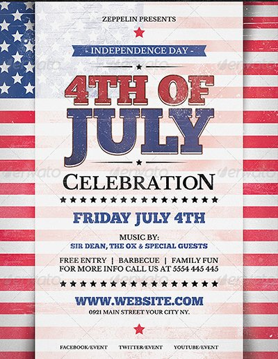 Fourth Of July Flyer Template Elegant 120 Best 4th Of July U S Independence Day Flyers Print
