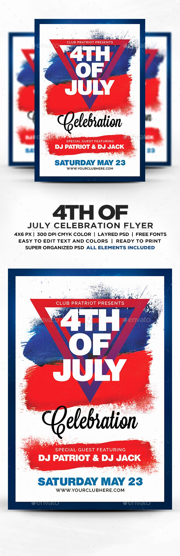 Fourth Of July Flyer Template Elegant 4th July Celebration Flyer Template Psd Flyers Print