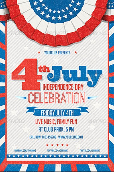 Fourth Of July Flyer Template Fresh 120 Best 4th Of July U S Independence Day Flyers Print
