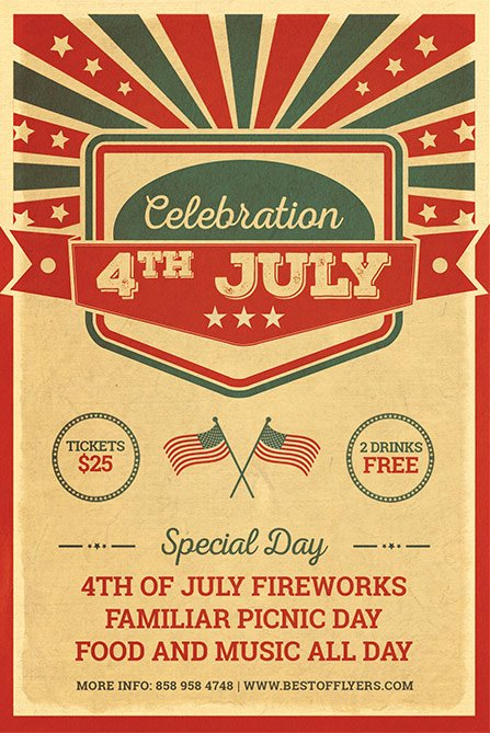 Fourth Of July Flyer Template Fresh 4th July Celebration Free Poster Template Free Flyer for