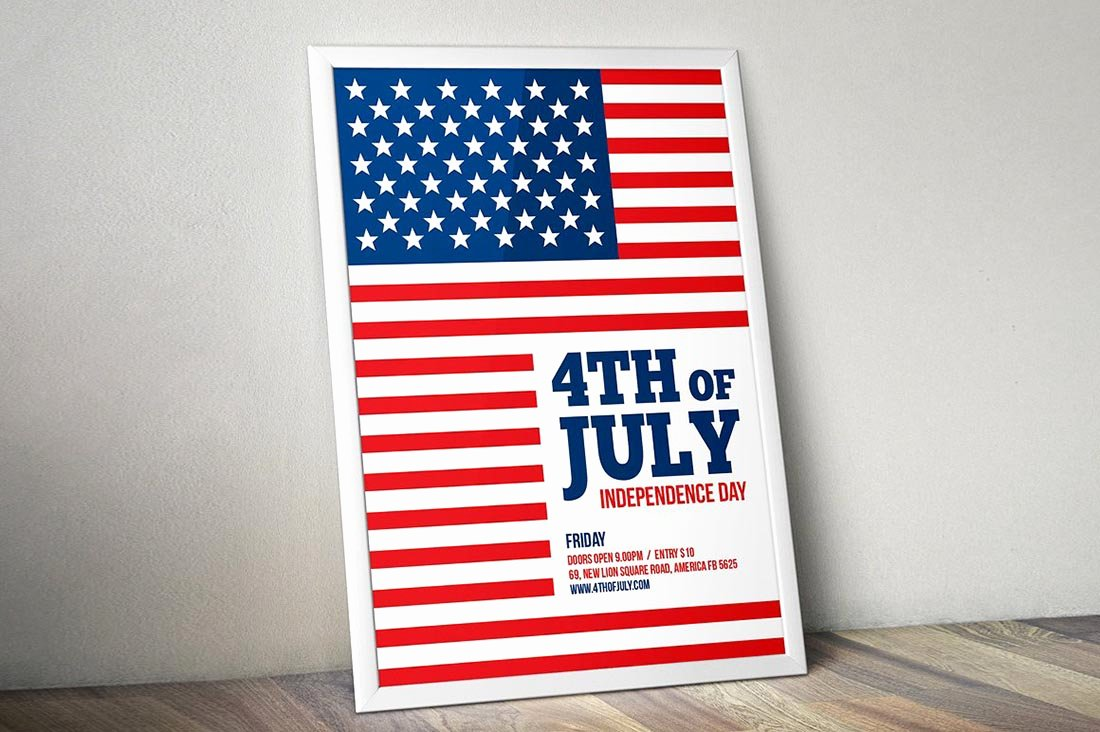 Fourth Of July Flyer Template Fresh 4th Of July Flyer Templates 20 Best Psd & Vector