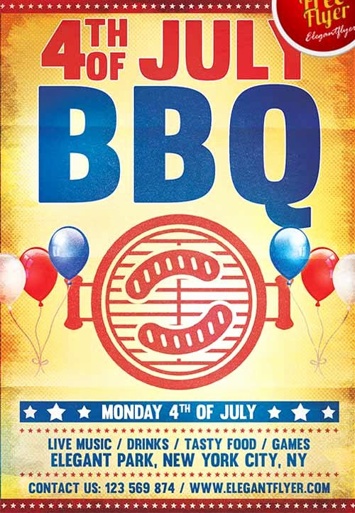 Fourth Of July Flyer Template Fresh Download the 4th Of July Bbq Party Free Flyer Template