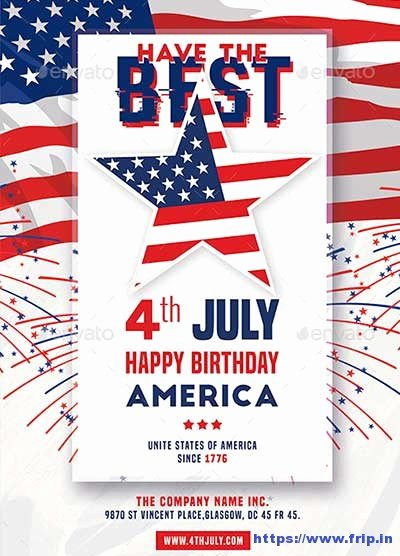 Fourth Of July Flyer Template Inspirational 60 Best 4th Of July U S Independence Day Flyers Print