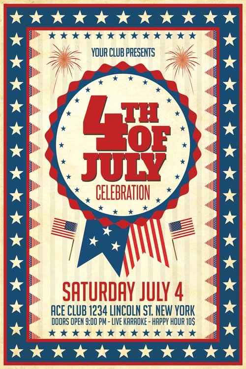 Fourth Of July Flyer Template Inspirational Xtremeflyers 4th Of July Flyer Templates