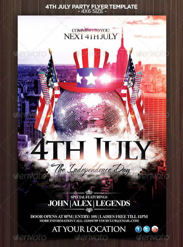 Fourth Of July Flyer Template Lovely 16 Amazing Independence Day Psd Flyer Templates
