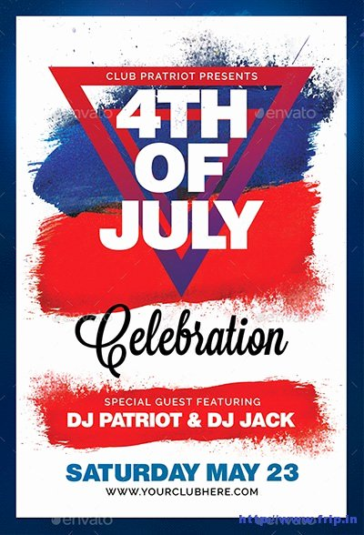 Fourth Of July Flyer Template Lovely 50 Best 4th Of July U S Independence Day Flyers Print