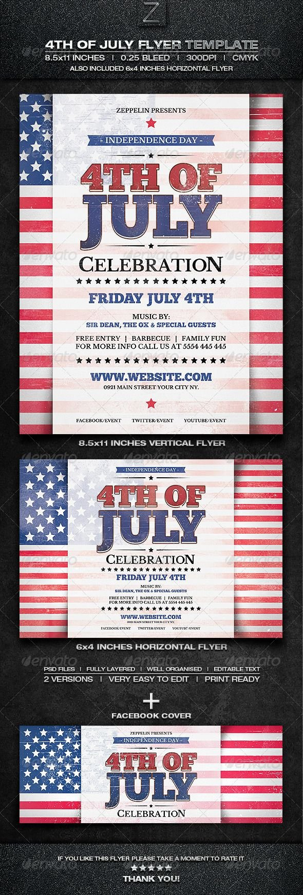Fourth Of July Flyer Template New 37 Best Images About Flyers On Pinterest