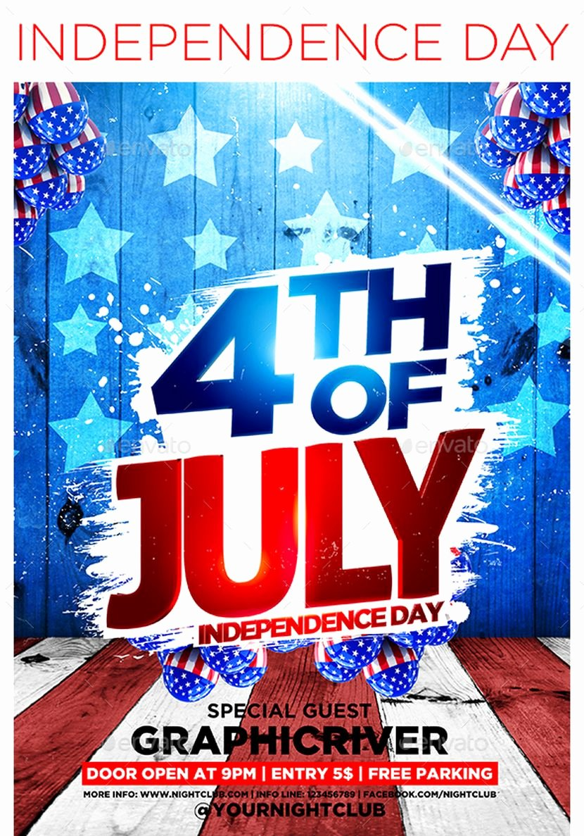 Fourth Of July Flyer Template Unique Designer Graphics for the 4th Of July Flyers Icons