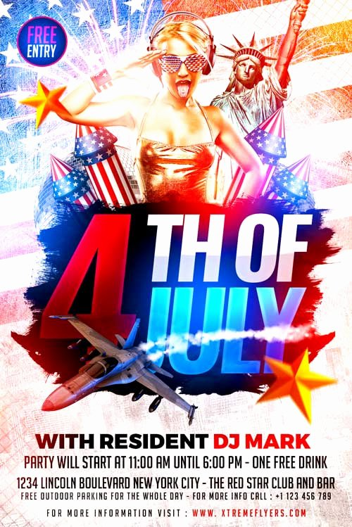 Fourth Of July Flyer Template Unique Xtremeflyers 4th Of July Flyer Templates