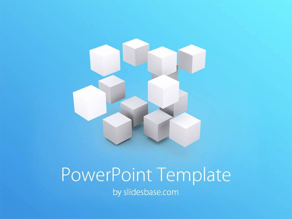Free 3d Powerpoint Templates Lovely 3d Cubes Powerpoint Template
