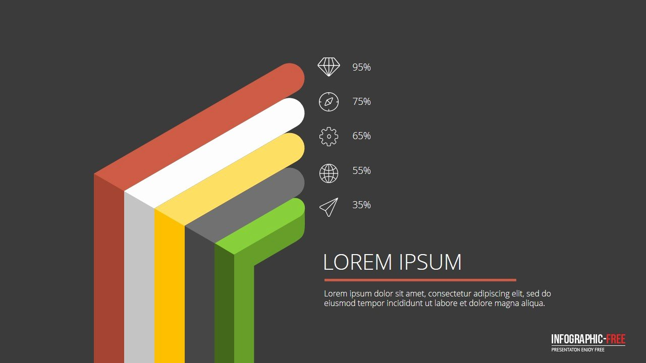 Free 3d Powerpoint Templates Luxury Free Powerpoint Template with Flat 3d Design Banner