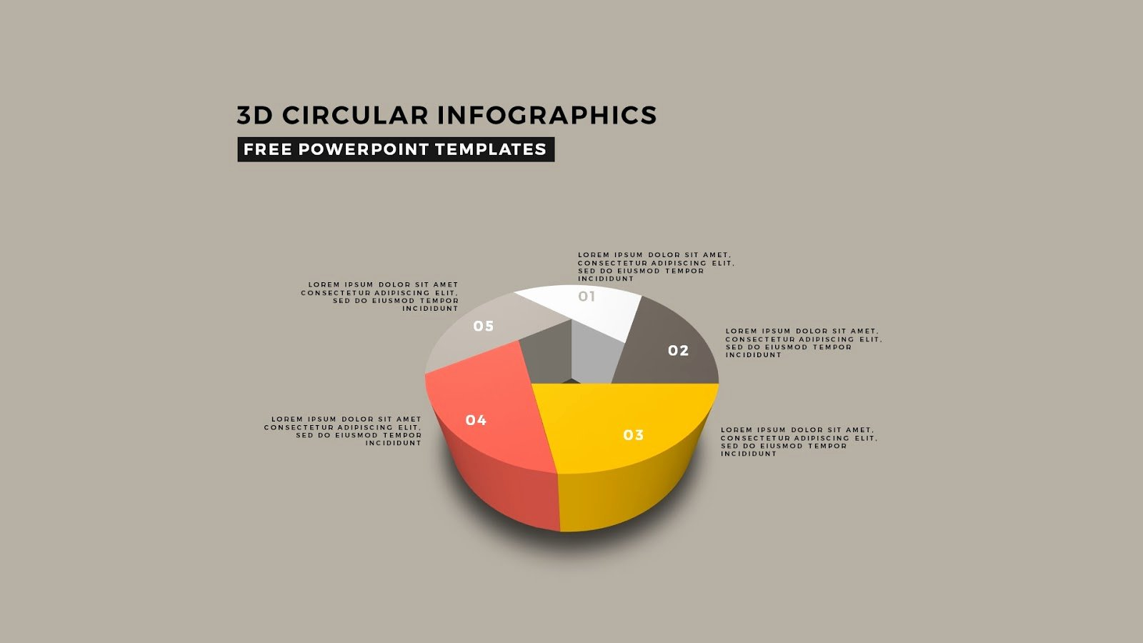 Free 3d Powerpoint Templates Luxury Perspective 3d Pie Chart Infographic Elements for