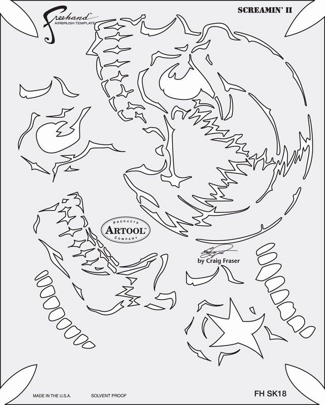 Free Airbrush Stencils Downloads Fresh Artool Template Skull Master Series by Craig Fraser