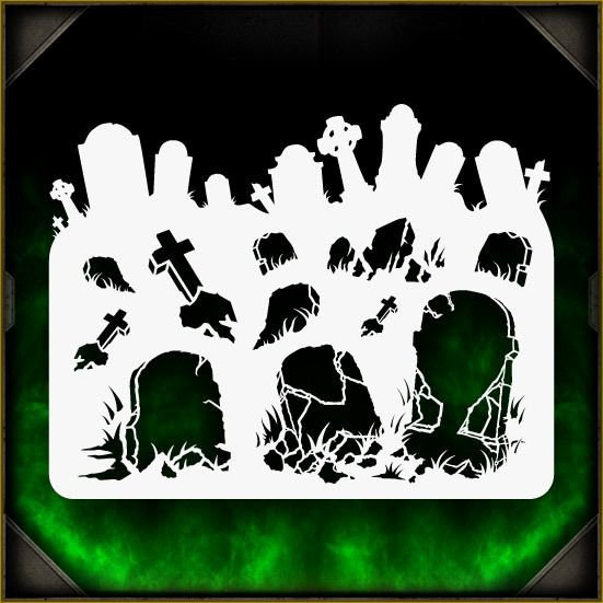 Free Airbrush Stencils Downloads New tombstones 1 Airbrush Stencil Template Airsick Zombies