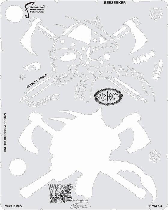 Free Airbrush Stencils Downloads Unique Viking Fx Craig Fraser Airbrush Stencil Set