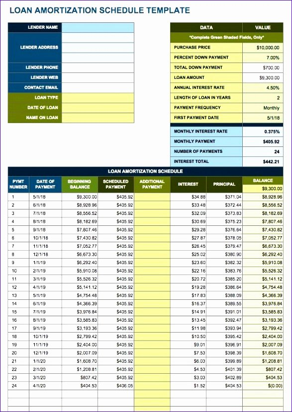 Free Amortization Schedule Template Fresh 10 Amortization Table Excel Template Exceltemplates