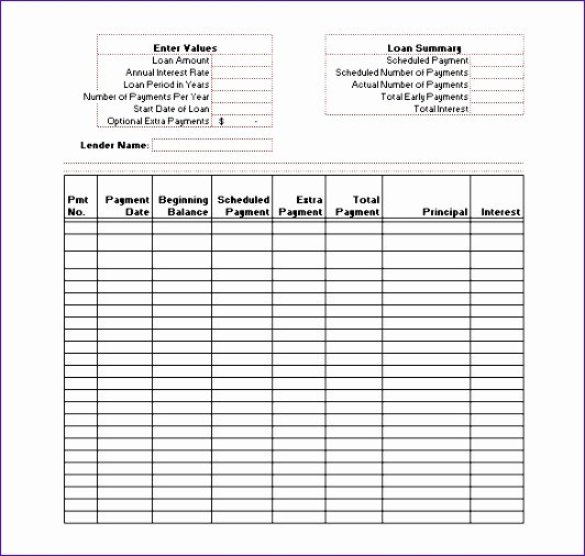 Free Amortization Schedule Template Fresh 9 Excel Loan Amortization Template Exceltemplates
