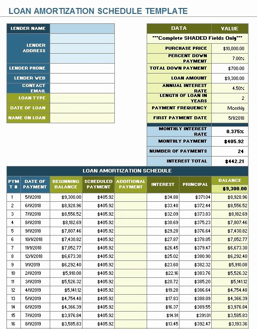 Free Amortization Schedule Template Lovely 10 Free Amortization Schedule Templates In Ms Word and Ms