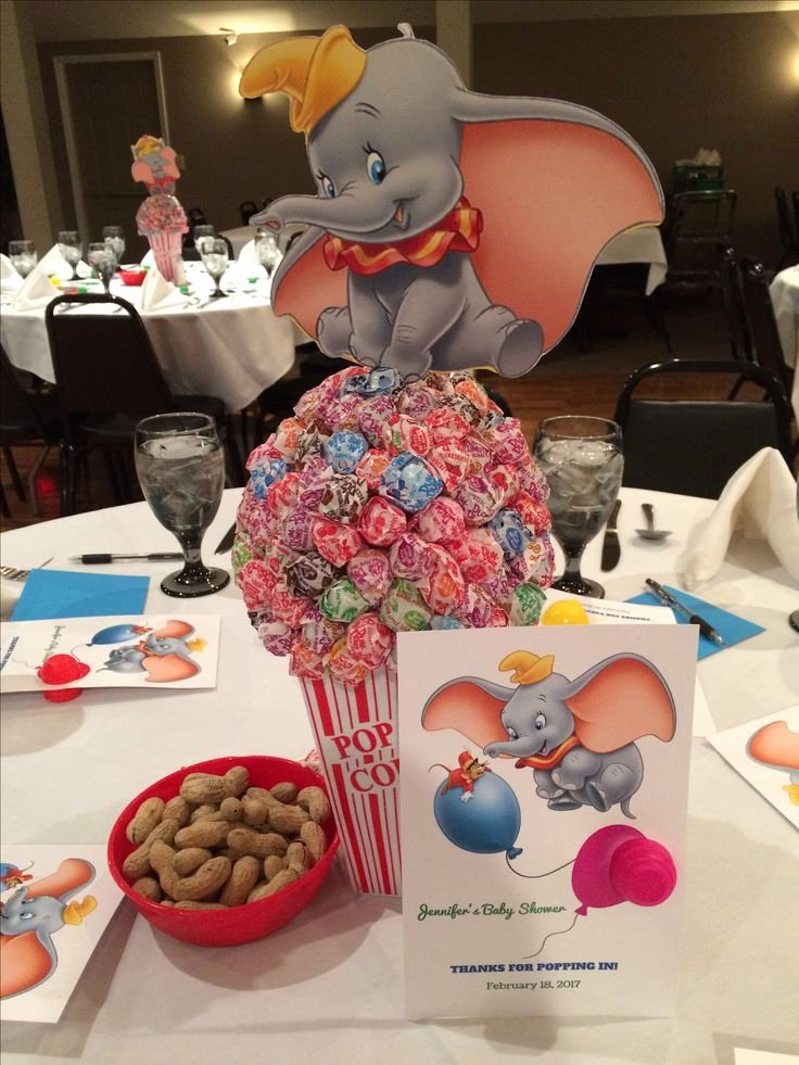 Free Baby Shower Decorations Awesome Dumbo themed Baby Shower Baby Shower In 2019