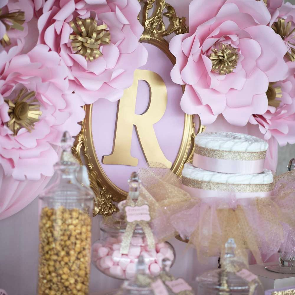 Free Baby Shower Decorations Awesome Shimmering Pink and Gold Baby Shower Baby Shower Ideas