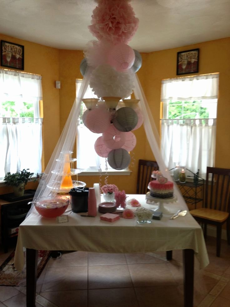 Free Baby Shower Decorations Elegant Gray and Pink Baby Shower Decorations Shower