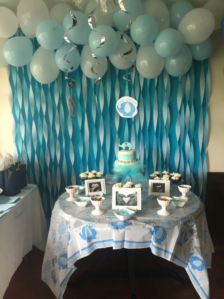 Free Baby Shower Decorations Lovely Baby Boy Elephant Baby Shower