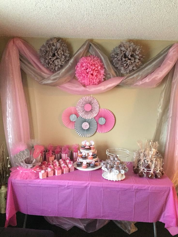 Free Baby Shower Decorations Luxury Pink and Gray Baby Girl Shower Baby Showers