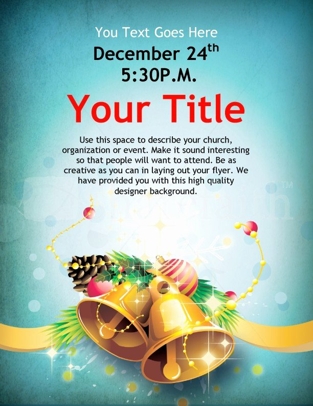 Free Background Templates for Word Awesome Christmas Bells Flyer Template