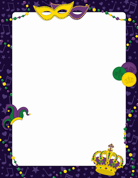 Free Background Templates for Word New Printable Mardi Gras Border Free Gif Jpg Pdf and Png