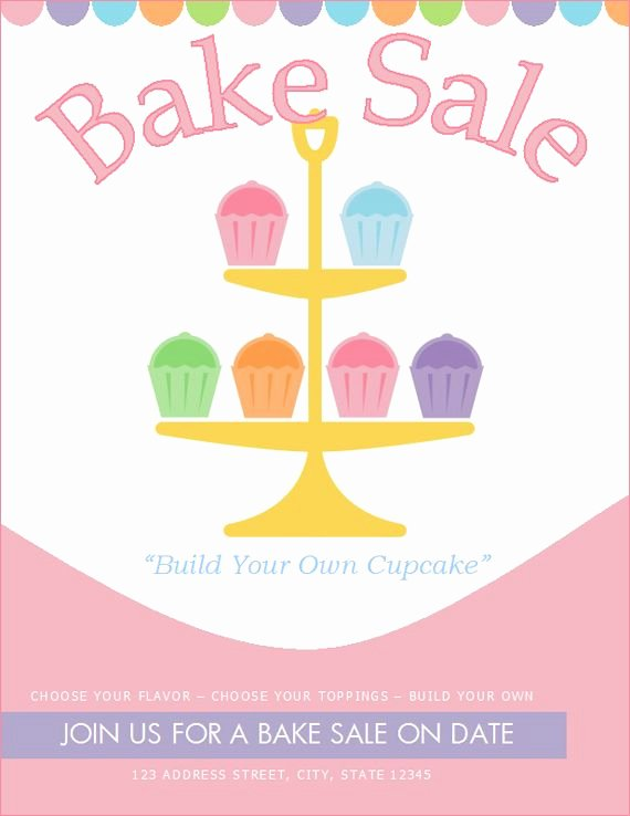 Free Bake Sale Template Beautiful Free Bake Sale Flyer Template