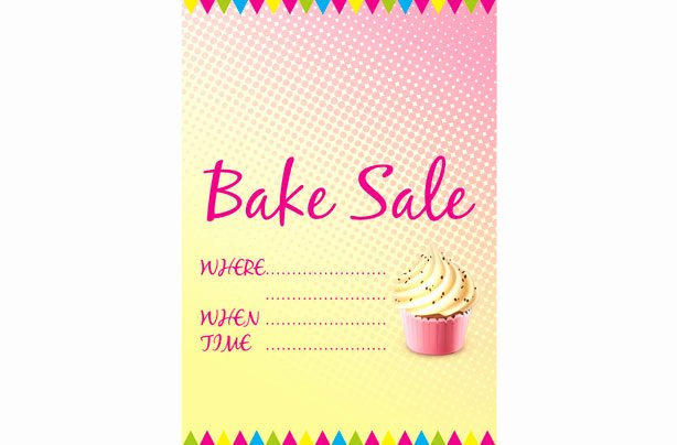 Free Bake Sale Template Beautiful Free Bake Sale Signs and Labels Goodtoknow