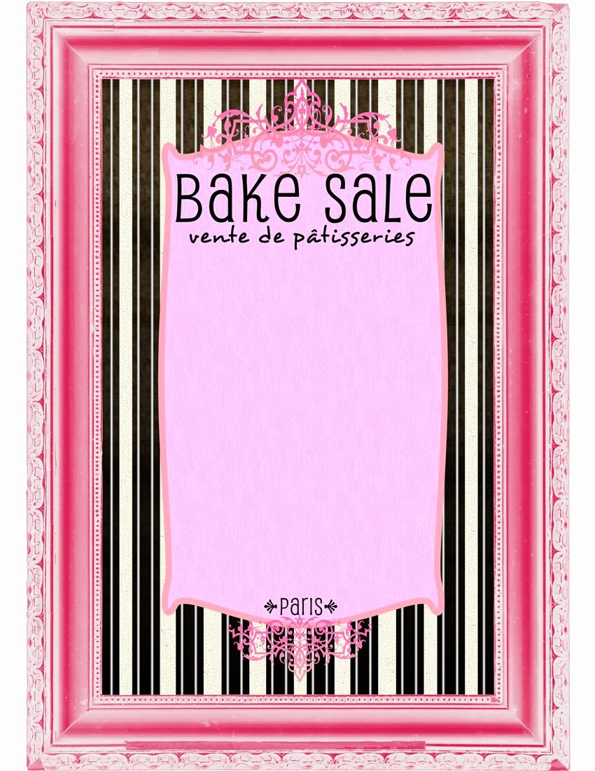 Free Bake Sale Template Best Of Free Printable Breast Cancer Posters