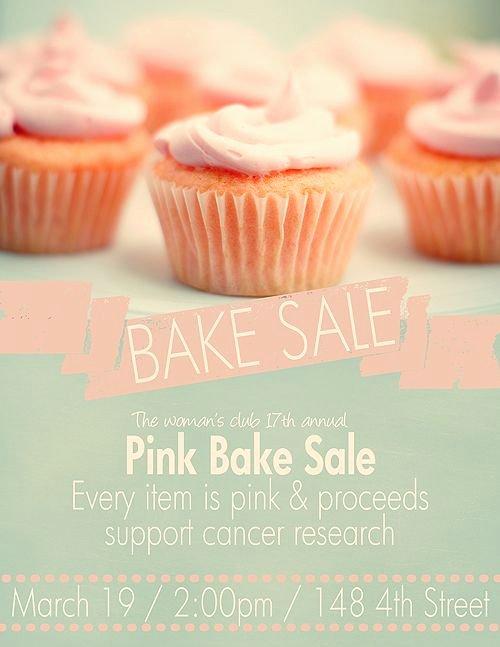 Free Bake Sale Template Best Of Pink Bake Sale Flyer Template Web Design