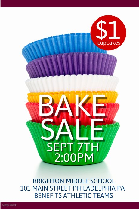 Free Bake Sale Template Inspirational Bake Sale Template