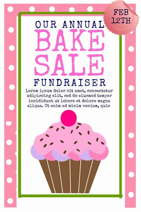 Free Bake Sale Template Lovely Bake Sale Template
