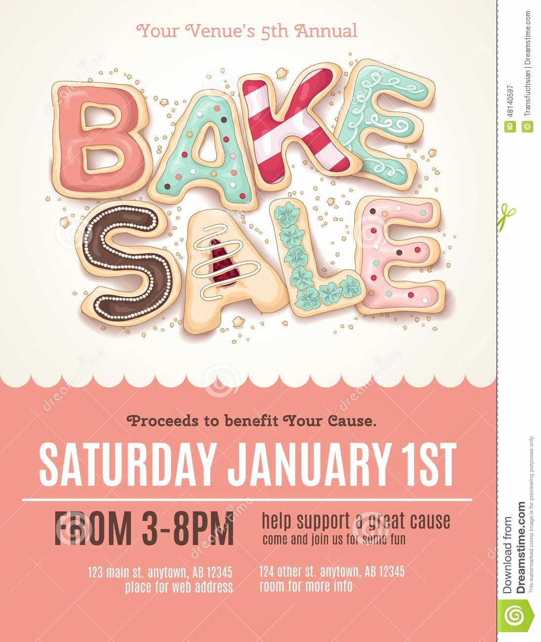 Free Bake Sale Template Luxury Fun Cookie Bake Sale Flyer Template Download From Over