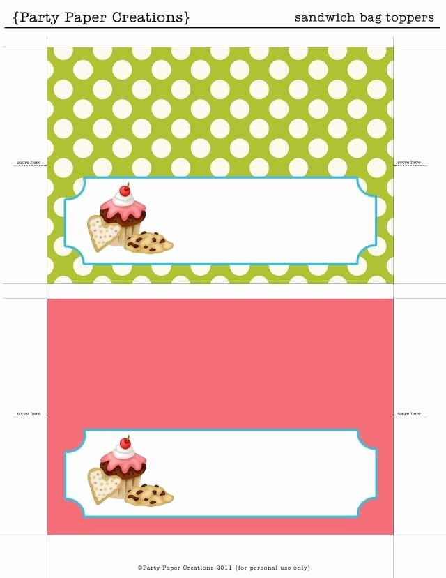 Free Bake Sale Template Luxury Printable Bag toppers
