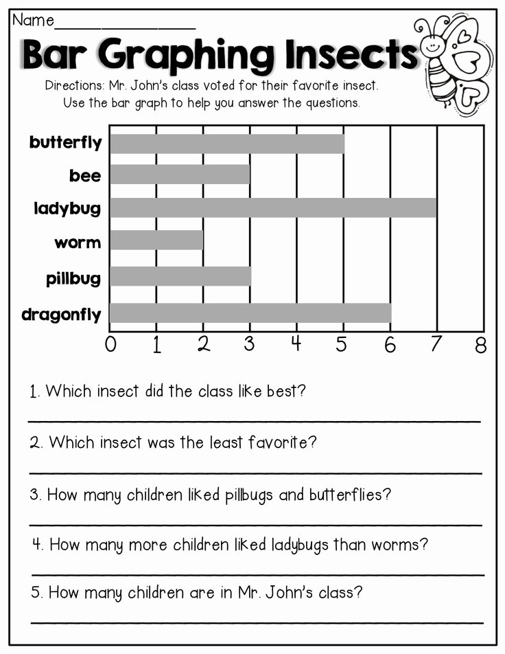 Free Bar Graph Worksheets Fresh Bar Graphing 1st Grade Activities