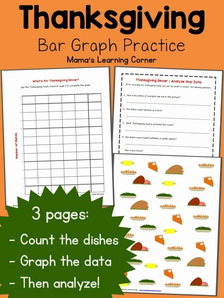 Free Bar Graph Worksheets Luxury Bar Graph Worksheet Thanksgiving