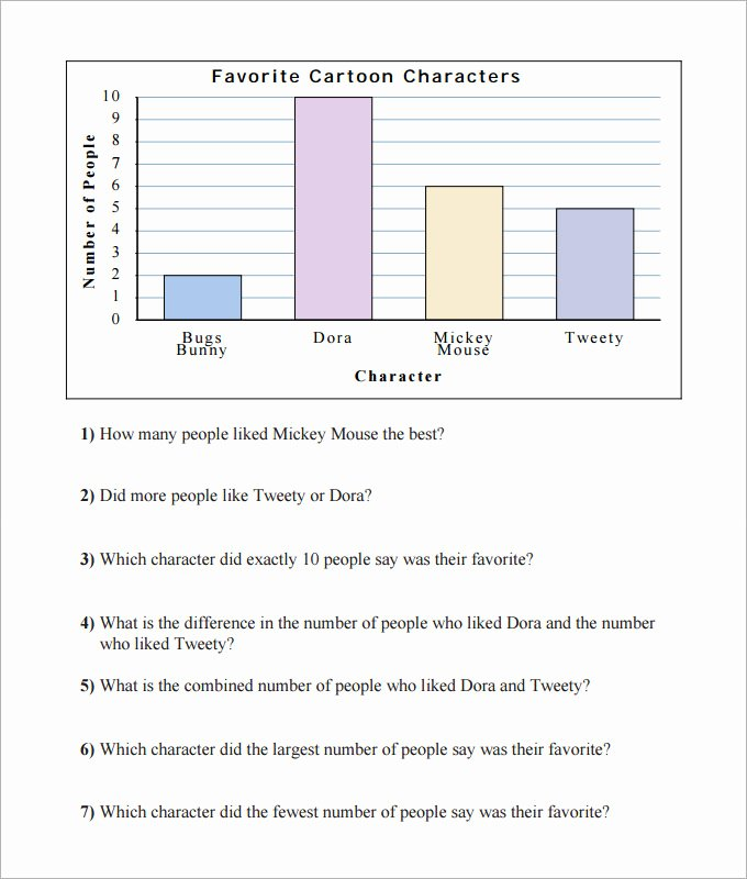 Free Bar Graph Worksheets Luxury Blank 5 Free Simple Bar Graph Template Printable Excel