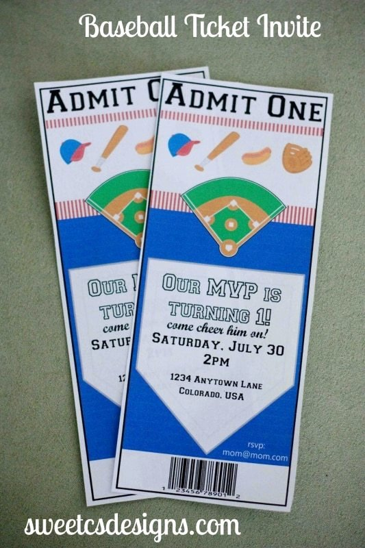 Free Baseball Ticket Template Inspirational 7 Dinner Party Essentials Sweet C S Designs