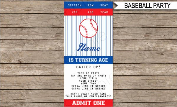 Free Baseball Ticket Template Lovely 16 Ticket Designs & Examples Psd Ai Vector Eps