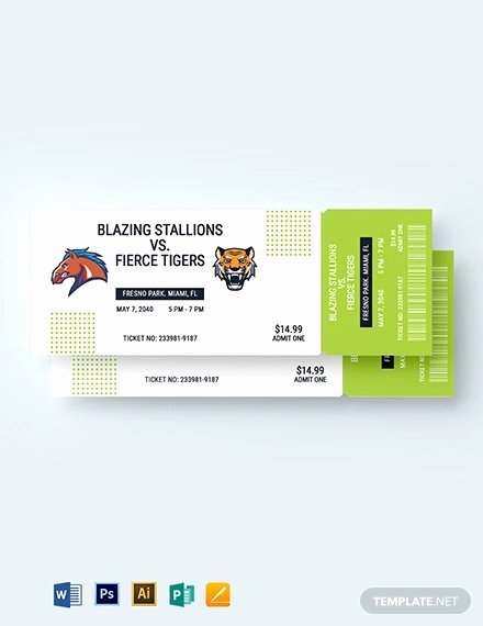 Free Baseball Ticket Template Unique 21 Baseball Ticket Templates Free Psd Ai Vector Eps